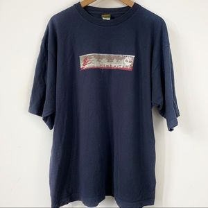 Timberland Navy Blue Graphic T-Shirt Size L